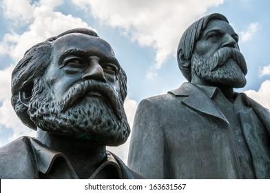 memorial for Marx and Engels in Berlin