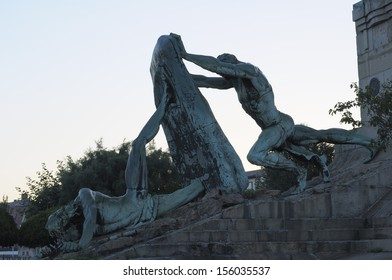 Memorial in a park