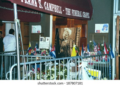 Memorial service for Celia Cruz at Frank Campbell Funeral Home, NY, 7/21/2003