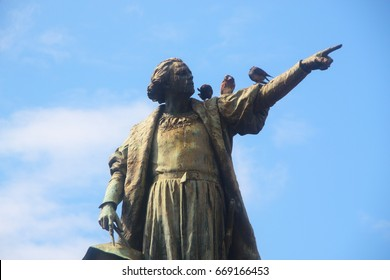 memorial statue of christoph columbus in santo domingo, dominican republic