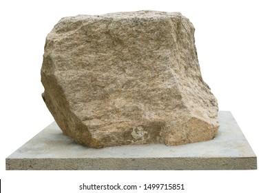 Memorial stone on white background