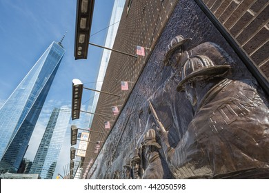 The Memorial Wall, located at FDNY Engine 10 Ladder 10, directly across from the World Trade Center site