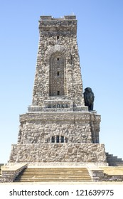 the memorial war on Shipka pass is a tower stone 32 m. high in the form of a truncated pyramid builded to those who died for the Liberation of Bulgaria in the Russo-Turkish War