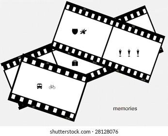 Memories - Filmstrip Background