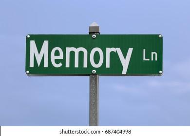 A Memory Lane road sign.