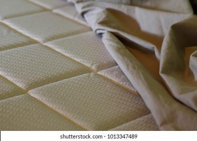 Memory mattress foam and silver threads