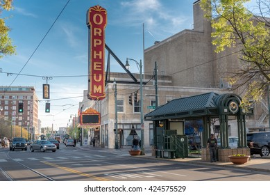 MEMPHIS, TENNESSEE - APRIL 09, 2016: Memphis Downtown and Orpheum