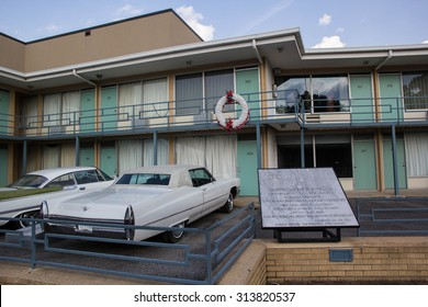MEMPHIS, TENNESSEE, USA-SEPTEMBER 6: Visitors tour the Lorraine Motel on September 6, 2015. This is the site that Dr. Martin Luther King, Jr was assassinated in 1968 and is now the civil rights museum