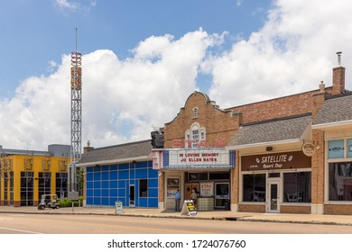 Memphis, Tennessee/USA - June 20, 2019:  Stax and Satellite Record Shop on E McLemore Street, Memphis, TN
