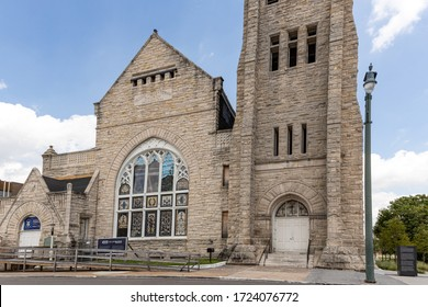 Memphis, Tennessee/USA - JUNE 20, 2019 - Clayborn Temple front stained glass windows