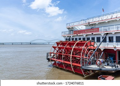 Memphis, Tennessee/USA - June 21, 2019:  Queen of the Mississippi paddlewheel boat