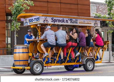 Memphis, Tennessee/USA - June 23, 2019:  Sprock n' Roll, party ride in downtown