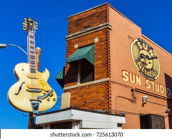 Memphis, TN - Sep. 21, 2017: Sun Studio. Originally called Memphis Recording Service, the studio's claim to fame is it being the birthplace of rock & roll. It is a National Historic Landmark.