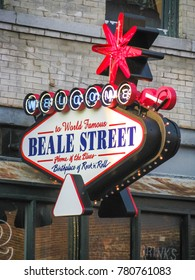 Memphis, TN USA - 06/12/2009 - Memphis, TN USA - Memphis Beale Street Sign