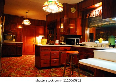 Memphis, TN, USA Elvis Presley's Kitchen looks the same as it did in 1977 at Graceland in Memphis, Tennessee