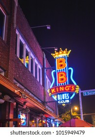 Memphis, TN/USA - Sep. 20, 2017: B.B. King's Blues Club at night on Beale Street,  Memphis, TN on Sep. 20, 2017.