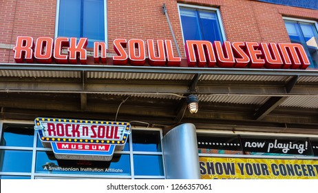 Memphis, TN/USA - Sep. 21, 2017: Rock n Soul Museum - a music museum located on Beale Street, Memphis, Tennessee.
