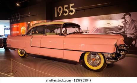 Memphis, TN/USA - Sept. 21, 2017: Elvis Presley's 1955 Pink Cadillac, Memphis, TN.