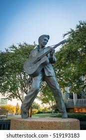 MEMPHIS, USA - NOV 13: Elvis Presley Statue in Elvis Presley Plaza, Memphis, TN on November 13, 2016