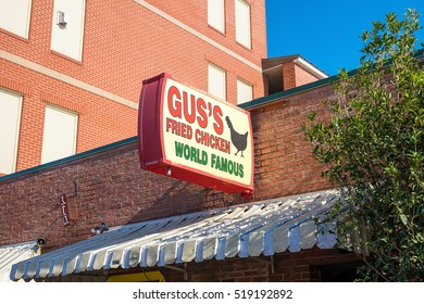 MEMPHIS, USA - NOV 13: Gus's World Famous Fried Chicken on November 13, 2016  in Memphis Tennessee USA