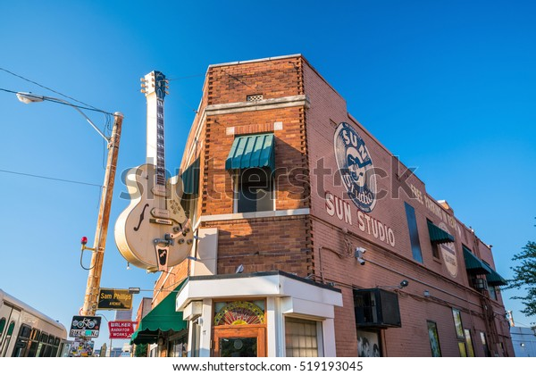 MEMPHIS, USA - NOV 13: Sun Studios in Memphis on November 13, 2016. This historic recording studio was where Elvis Presley cut his first record.