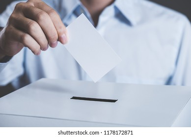 Men and ballot box