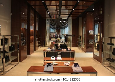 men clothing and accessories luxury store  interior