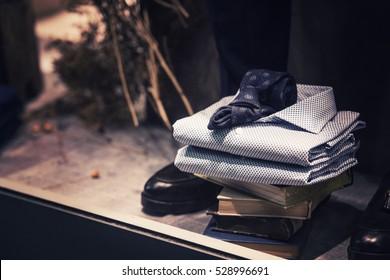 Men clothing stack