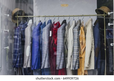 Men clothing in a store in Paris