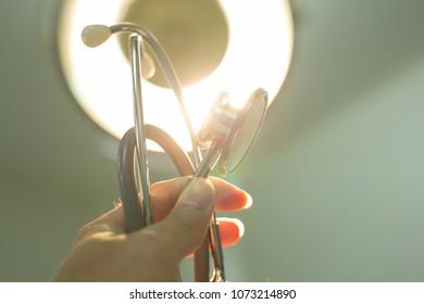 Men Doctor, surgery,nurse,phamacy with stethoscope on hospital holding