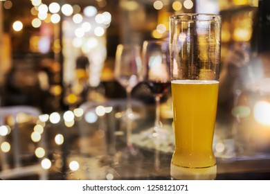 Men drinking, beer mug,