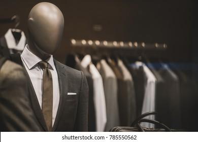 Men elegant clothing shop in Milan