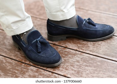 men elegant shoes with colorful socks