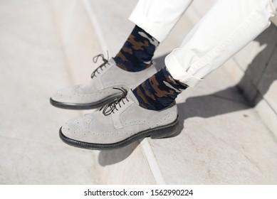 men elegant shoes with orginal socks