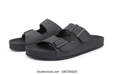 men fashion sandal isolated on white background