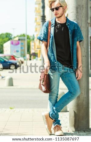 Men Fashion Urban Style Clothing Concept Stock Photo Edit Now