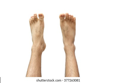 men foot isolated on white background