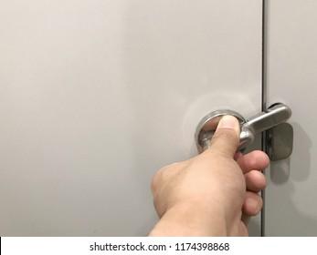 Bathroom Door Lock High Res Stock Images Shutterstock