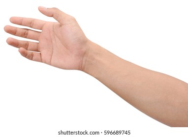 Men hands sign isolated is on white background with clipping path