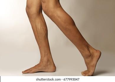 men leg calf
