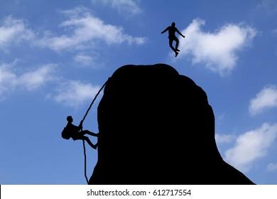 Men on a mountain
