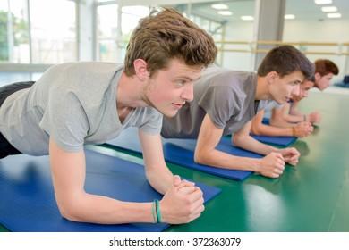 men on their mats