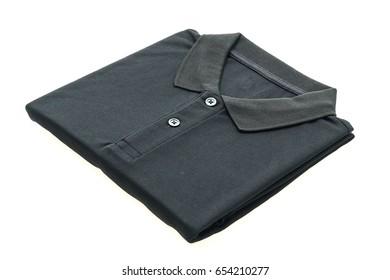 Men polo shirt isolated on white background
