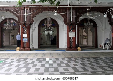 Men praying at the Jummah Masjid (mosque) in Port Louis, Mauritius on Monday 28 May 2012