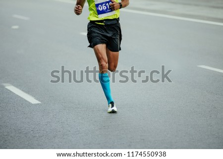 ac88ef484d Men Runner Compression Socks Running Asphalt Stock Photo (Edit Now ...