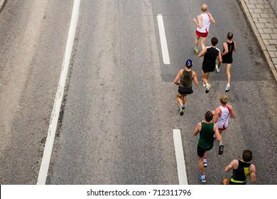 Men running in a half marathon competition
