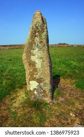 The Men Scryfa, Inscribed Standing Stone, near Morvah, Cornwall UK