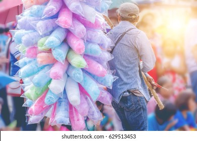 Men selling cotton candy