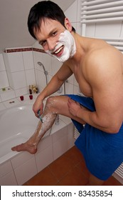 Men shave their legs