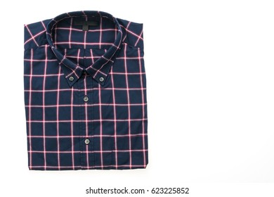 Men shirt for clothes isolated on white background